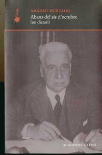 abans del sis d'octubre - Amadeu Hurtado