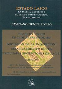 Estado Laico - Cayetano Nuñez Rivero