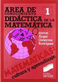 AREA DE CONOCIMIENTO DIDACTICA DE LAS MATEMATICAS