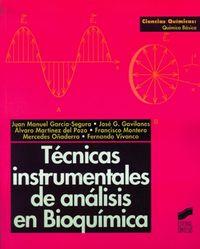 TECNICAS INSTRUMENTALES DE ANALISIS EN BIOQUIMICA