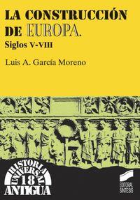 CONSTRUCCION DE EUROPA (SIGLOS V-VIII)