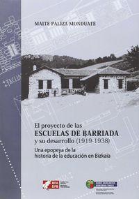 AUZO-IKASTOLEN PROIEKTUA ETA HAREN GARAPENA (1919-1938) = PROYECTO DE LAS ESCUELAS DE BARRIADA Y SU DESARROLLO (1919-1938)