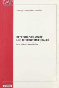 DERECHO PUBLICO DE LOS TERRITORIOS FORALES