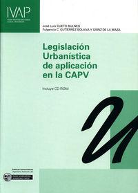 LEGISLACION URBANISTICA DE APLICACION EN LA CAPV (+CD-ROM)