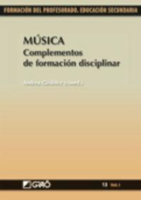 MUSICA - COMPLEMENTOS DE FORMACION DISCIPLINAR
