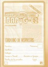 BADYG-E2 - CUAD. APLICACION-RESPUESTAS