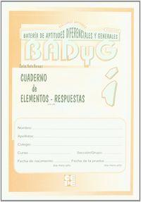 BADYG INFANTIL CUAD. ELEMENTOS-RESPUESTAS