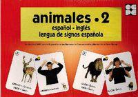 ANIMALES 2 - BARAJA ESPAÑOL-INGLES - LENGUA DE SIGNOS ESPAÑOLA