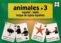 ANIMALES 3 - BARAJA ESPAÑOL-INGLES - LENGUA DE SIGNOS ESPAÑOLA
