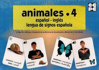 ANIMALES 4 - BARAJA ESPAÑOL-INGLES - LENGUA DE SIGNOS ESPAÑOLA