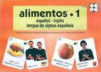 ALIMENTOS 1 - BARAJA ESPAÑOL-INGLES - LENGUA DE SIGNOS ESPAÑOLA