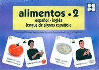 ALIMENTOS 2 - BARAJA ESPAÑOL-INGLES - LENGUA DE SIGNOS ESPAÑOLA
