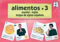 ALIMENTOS 3 - BARAJA ESPAÑOL-INGLES - LENGUA DE SIGNOS ESPAÑOLA