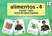 ALIMENTOS 4 - BARAJA ESPAÑOL-INGLES - LENGUA DE SIGNOS ESPAÑOLA