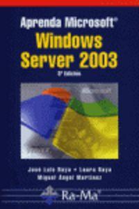 APRENDA MICROSOFT WINDOWS SEERVER 2003
