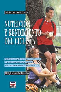 Nutricion Y Rendimiento Del Ciclista - Ed Pavelka