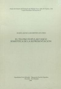 TEATRO POPULAR VASCO - SEMIOTICA DE REPRESENTACION