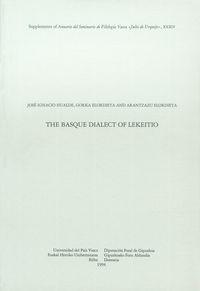 BASQUE DIALECT OF LEKEITIO, THE - ASJU 34