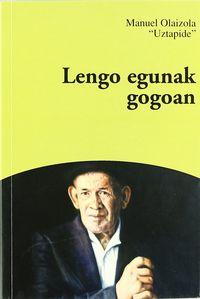LENGO EGUNAK GOGOAN