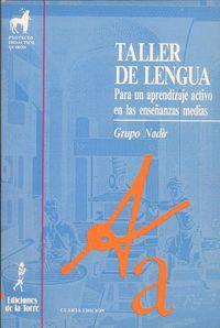 Eso - Taller De Lengua - Grupo Nadir