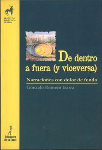 DE DENTRO A FUERA (Y VICEVERSA) - NARRACIONES CON DOLOR DE FONDO - UN MATERIAL DE TRABAJO COMPLEMENTARIO PARA EDUCADORES INQUIETOS