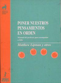 Poner Nuestros Pensamientos En Orden - Matthew Limpan / Anne Gazard