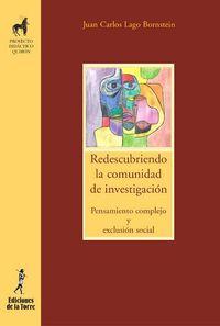 Redescribiendo La Comunidad De Investigacion - Pensamiento Complejo Y Exclusion Social - Juan Carlos Lago