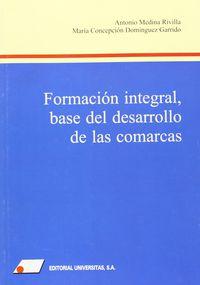 FORMACION INTEGRAL - BASE DEL DESARROLLO DE LAS COMARCAS