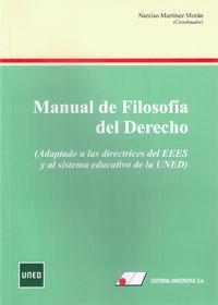MANUAL DE FILOSOFIA DEL DERECHO - ADAPTADO DE LAS DIRECTRICES DEL EEES Y AL SISTEMA EDUCATIVO DE LA UNED