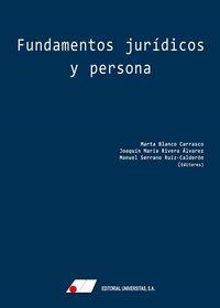 FUNDAMENTOS JURIDICOS Y PERSONA