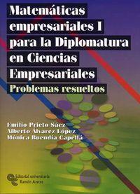 PROBLEMAS RESUELTOS MATEMATICAS EMPRESARIALES I DIPLOMATURA