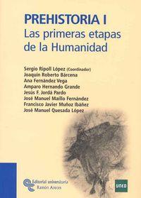 PREHISTORIA I - LAS PRIMERAS ETAPAS DE LA HUMANIDAD