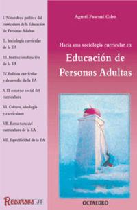 Educacion De Personas Adultas - Agusti Pascual Cabo