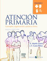 Atencion Primaria (2 Vols. )  (+cd)  (6ª Ed. ) - A.  Martin Zurro  /  J. F.  Cano Perez