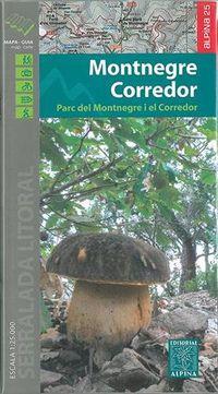 MONTNEGRE CORREDOR - MAPA Y GUIA 1: 25000