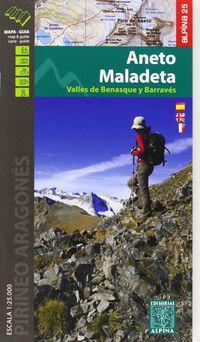 ANETO - MALADETA - MAPA Y GUIA 1: 25000