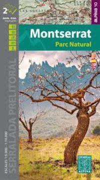 Montserrat Parc Natural Mapa Guia 1: 10000 - Aa. Vv.