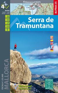MAPA SERRA DE TRAMUNTANA - MALLORCA 1: 25000 (WATERPROOF)