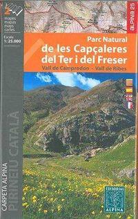 PARC NATURAL DE LES CAPÇALERES DEL TER 1: 25000