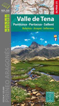 MAPA VALLE DE TENA (PANTICOSA-PORTACUA-SALLENT) MAPA Y GUIA 1: 25000