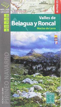Valles De Belagua Y Roncal 1: 25000 - Mapa Y Guia - Aa. Vv.