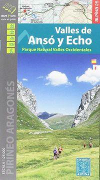 Valles De Anso Y Echo - Mapa Y Guia 1: 25000 - Aa. Vv.