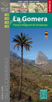 La Gomera 1: 25000 - Mapa Y Guia Excursionista - Aa. Vv.