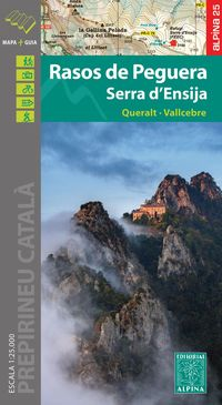 Mapa Rasos De Peguera - Serra D'ensija 1: 25000 - Aa. Vv.