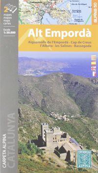 Mapa Alt Emporda 1: 50000 - Aiguamolls De L'emporda - Cap De Creus - L'albera - Les Salines - Bassegoda - Aa. Vv.