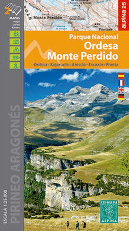 (carpeta) Parque Nacional De Ordesa Y Monte Perdido 1: 25000 (2 Mapas) - Aa. Vv.