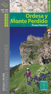 Ordesa Y Monte Perdido - Mapa / Guia Excursionista 1: 40000 - Aa. Vv.