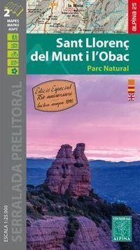 SANT LLORENÇ DEL MUNT I L'OBAC - MAPA 1: 25000 (+MAPA DEL 1946)