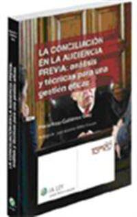 CONCILIACION EN LA AUDIENCIA PREVIA, LA