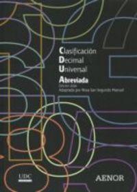 CLASIFICACION DECIMAL UNIVERSAL (CDU) ABREVIADA - EDICION 2016